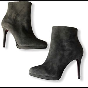 ZARA Basic gray boots with zipper